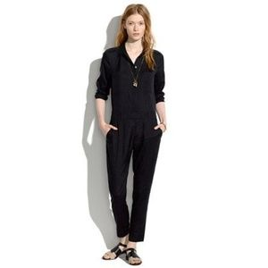 Madewell Silk Black Jumpsuit